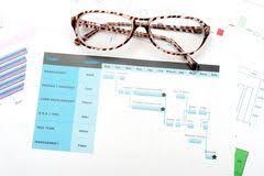 Планово контрольный график Стоковое Фото изображение  Планово контрольный график проекта · Диаграмма gantt Стоковое Изображение rf