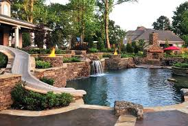 inground pools with waterfalls and hot tubs. Pool Waterfall Slide Kit Inground Pools With Waterfalls And Hot Tubs Swimming Cost D