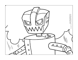 Small Picture Printable Robot Coloring Pages Coloring Pages for Kids