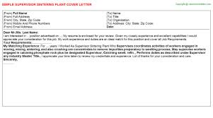 Asphalt Plant Operator Trainee Cover Letters