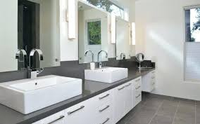 Bathroom White Bathroom Cabinets With Dark Countertops Stylish