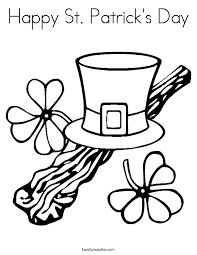 Small Picture St Patricks Day Coloring Pages Twisty Noodle