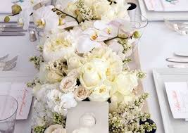 White wedding centerpieces Tall Hi Miss Puff 60 Simple Elegant All White Wedding Color Ideas Hi Miss Puff