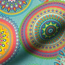 Mandala fasching kostenlos / mandalas para pintar mandala. Outdoor Fabric Mandala Light Turquoise Fabrics Hemmers