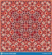 Persian Design Fabric Persian Colored Carpet Stock Vector Illustration Of