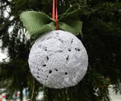Poinsettia Lace Christmas Ornament