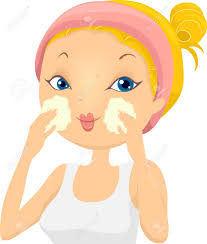 washing face clipart. Interesting Face Girl Washing Her Face Stock Vector Illustration Of Girl  13958799 To Washing Face Clipart O