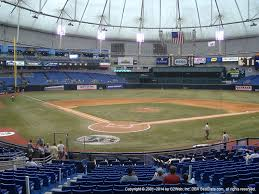 Tropicana Field Seating Chart View Tropicana Field Seat Views Section By Section