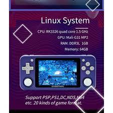 Máy Chơi Game RG351P Phiên Bản Mới Hỗ Trợ Cực Mượt PSP/PS1/Dreamcast Tích  Hợp Sẵn Hơn 2500 Games