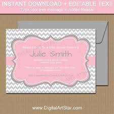 Bridal Shower Invitation Templates Stunning Baby Shower Invitation Template Girl Baby Shower Invitation Instant