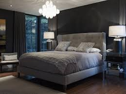 Bedroom Design Grey Bed Bold Touches In A Gray Bedroom