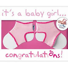 Sock On Congratulations Card Girl