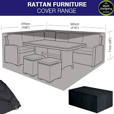 rattan furniture covers. Garland Rattan Covers - Large Casual Dining Set Cover Furniture