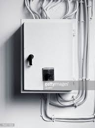 fuse box stock photos and pictures getty images electricity distribution box wires and circuit breakers fuse box