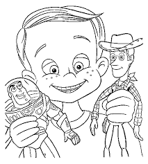 Toy Story Andy Woody E Buzz Lightyear Disegni Da Colorare
