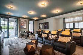 movie room chairs. Exellent Room Movie Room With Blue Painted Ceiling And Black Recliner Chairs With M
