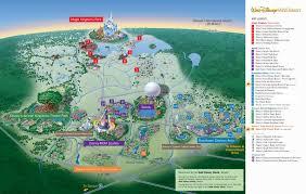 map of walt disney world resort  wdwinfocom