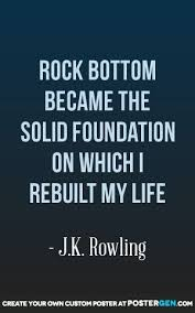 Rock Bottom Quotes Awesome Rock Bottom Print Inspirational Quotes Pinterest Inspirational