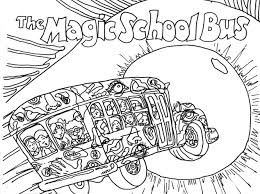 Small Picture Magic School Bus Coloring Pages Free Printable Bebo Pandco