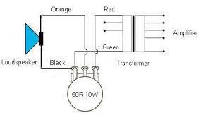 100v loudspeaker terminology potentiometer control