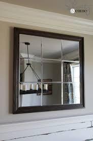 diy large paneled wall mirror wall