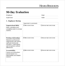 Employee Evaluation Checklist Template 41 Sample Employee Evaluation Forms In Pdf