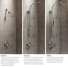 Bathroom Remodeling Books Amazing KOHLER K48CP HydroRail R Shower Column Polished Chrome
