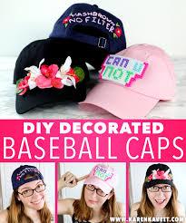 Decorating With Hats 3 Ways To Decorate Baseball Caps Karen Kavett