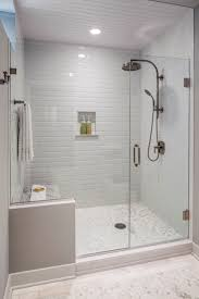 the guest bath had a shower area that was dated and confining a new frameless