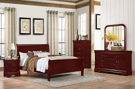bedroom furniture decor. 5933K-QB-020-040-050-030 Traditional Cherry Finish, Aged Bedroom Furniture Decor