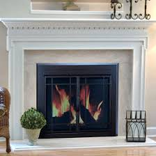 pleasant hearth fireplace doors installation manual cabinet screen smoked glass sunlight nickel gothic