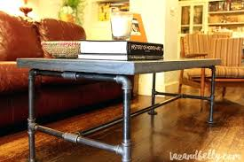 concrete coffee table diy pipe fitting and belly slab concrete coffee table