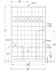 standard bench seat height shower dimensions for seating and depth be
