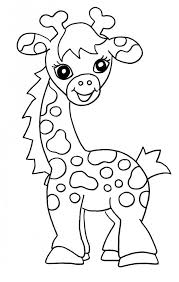 Small Picture Giraffe Coloring Pages For Kids Coloring Pages Pinterest
