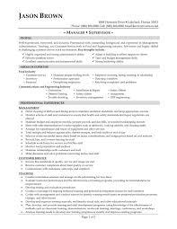 Resume For Restaurant Supervisor Resume Ideas Restaurant Manager