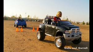 Power Wheels Tug Of War 1 - Ford F-150 vs Dodge Ram - YouTube