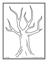 Small Picture Trees without Leaves Coloring Pages Finger Painting Activity Tree