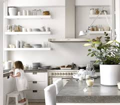 Small Picture Kitchen Organization for Home Staging White wall shelves