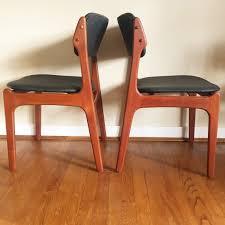vintage teak furniture. Vintage Teak Dining Chairs By Erik Buch, Model #49 Furniture E