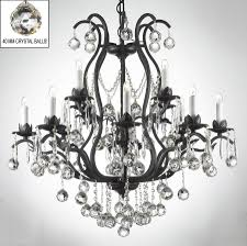 breathtaking wrought iron chandelier with crystals 3 fabulous black crystal chandeliers 17 surprising swarovski trimmed mini lamp shades lighting silver