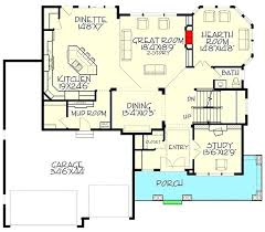 2000 sq ft house plans 1 floor rectangular 4 bedroom india open under new architectures