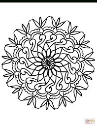 Simpele Bloem Mandala Kleurplaat Gratis Kleurplaten Printen Inside