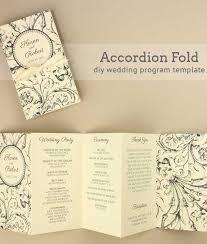 Wedding Program Scroll Harvest Scroll Accordion Fold Wedding Program