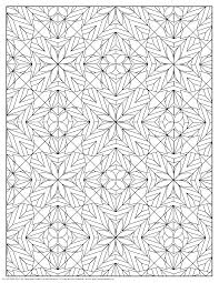 Small Picture coloring pages for adults Stars and Flowers Pattern Coloring