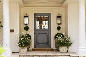 White Front Door With Glass