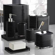 black bathroom accessories. Interesting Black Black Bathroom Set In Black Bathroom Accessories U