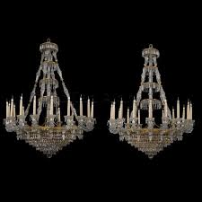 a pair of eighteen light chandeliers