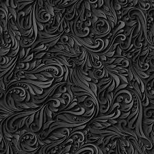 Pattern Vector Gorgeous Black Paper Floral Seamless Pattern Vector Free Download