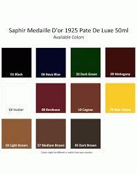 Saphir Creme Surfine Colour Chart Saphir 1925 Pate De Luxe 50ml