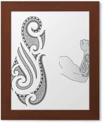 Maori Tetování Design Se Hodí Do Předloktí